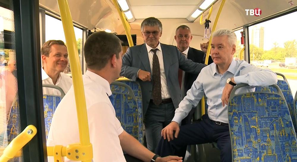 Сергей Собянин в автобусе
