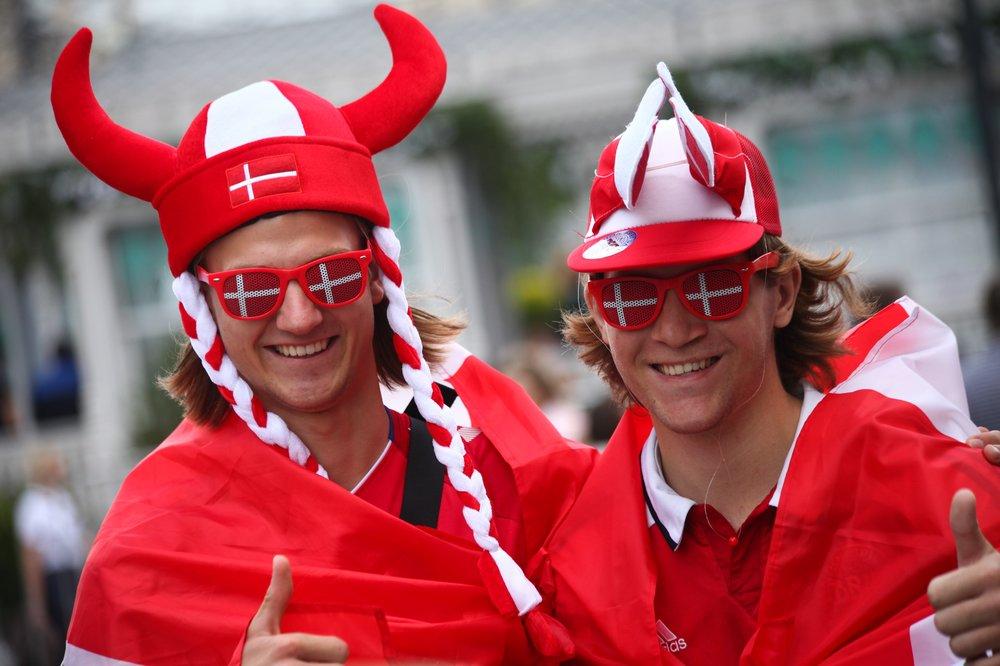 Болельщики Дании