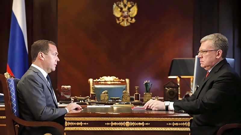 Дмитрия Медведева с председателем Счётной палаты Алексеем Кудриным