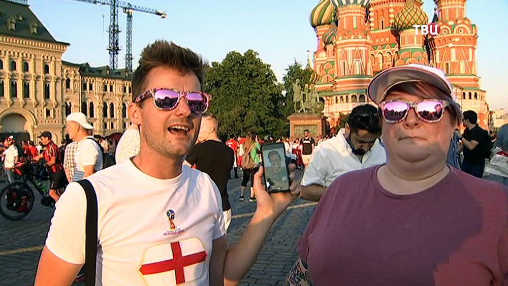 Болельщики Англии в Москве