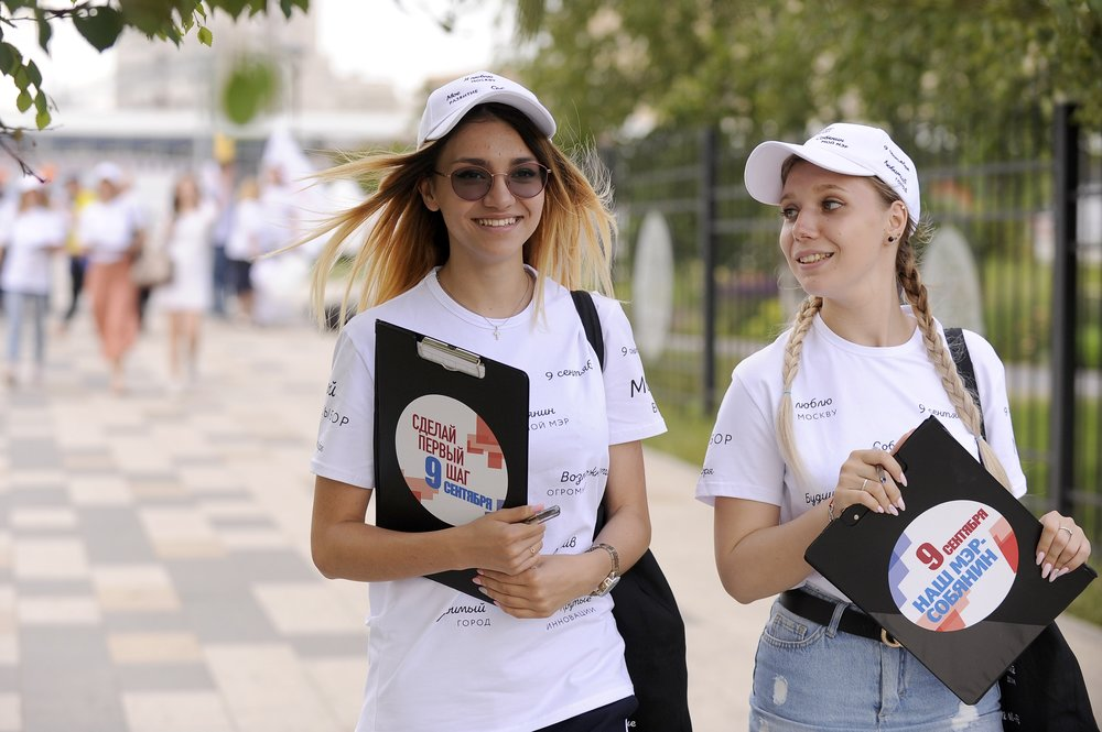 Сбор подписей в поддержку Сергея Собянина на станциях МЦК