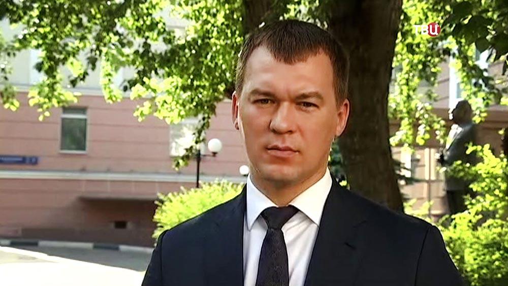 Кандидат от партии ЛДПР на пост мэра Михаил Дегтярев