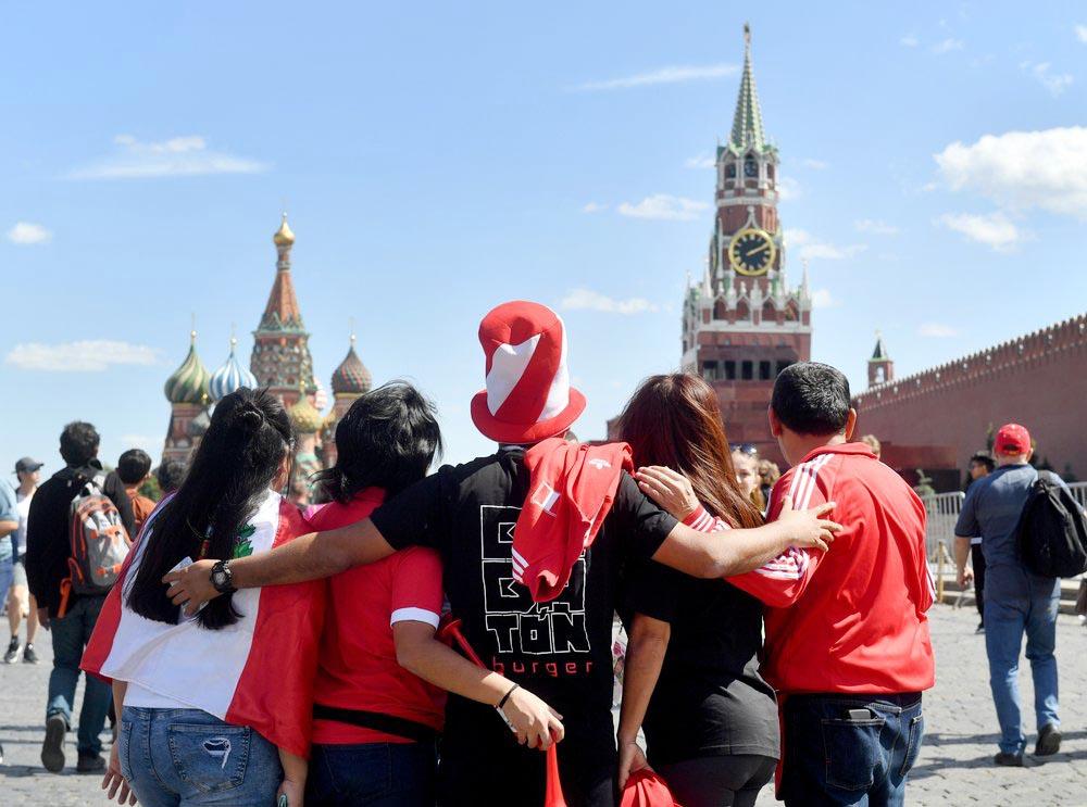 Болельщики на Красной площади