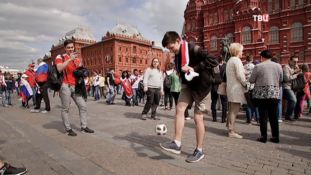 Болельщики в центре Москвы