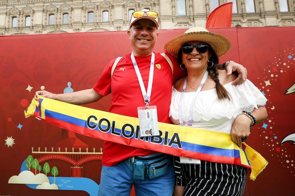 Болельщики Колумбии в Москвы