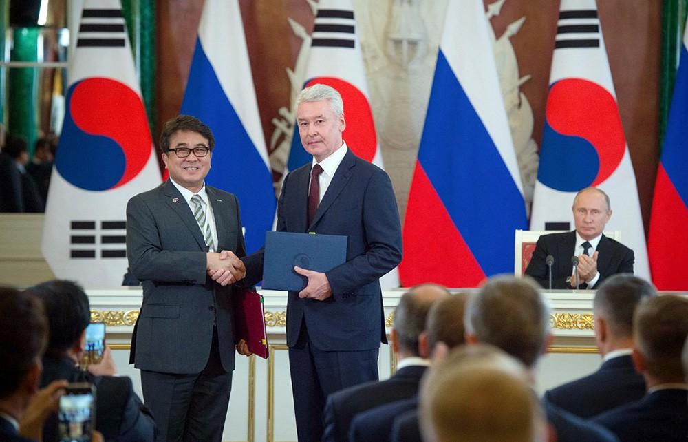Подписание Меморандума о взаимопонимании между Правительством Москвы и госпиталем Бундан (Республика Корея)