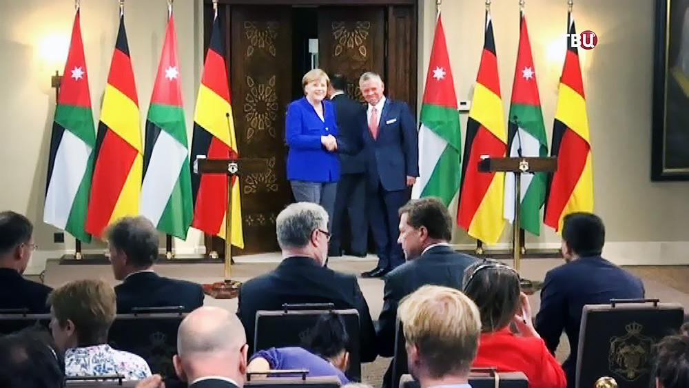 Ангела Меркель и король Иордании Абдалла II