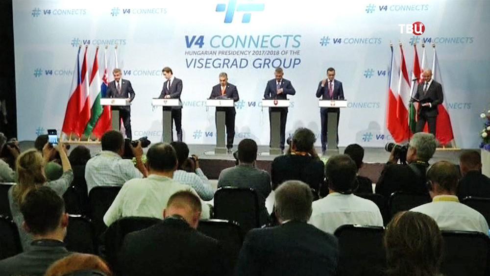 Лидеры стран Вишеградской четверки