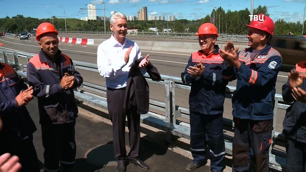 Сергей Собянин открывает движение по новому мосту