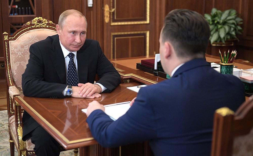 Президент России Владимир Путин и врио Ивановской области Станислав Воскресенский
