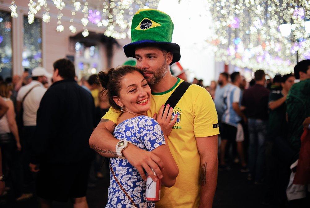 Болельщики Бразилии