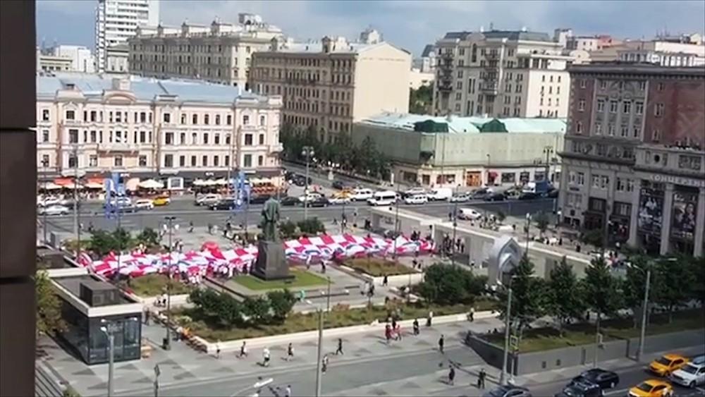 Хорватские болельщики в Москве
