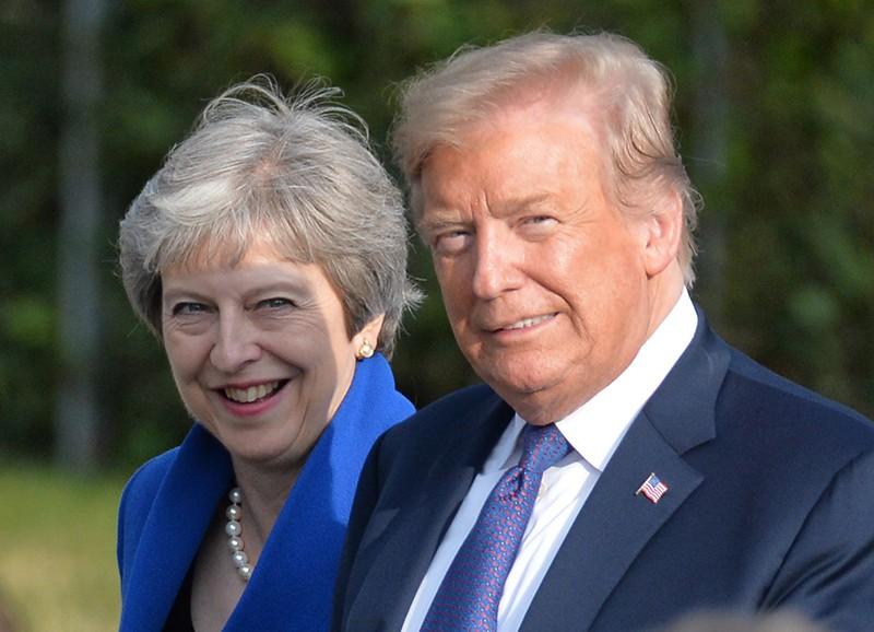 Премьер-министр Великобритании Тереза Мэй и президент США Дональд Трамп