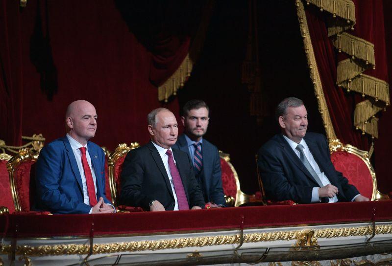 Владимир Путин и Джанни Инфантино в Большом театре