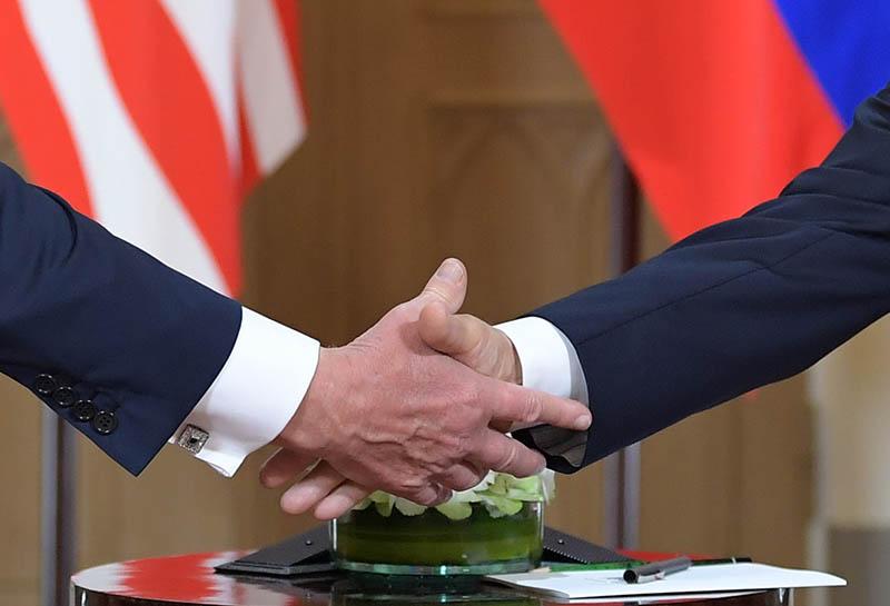 Встреча Владимира Путина и Дональда Трампа