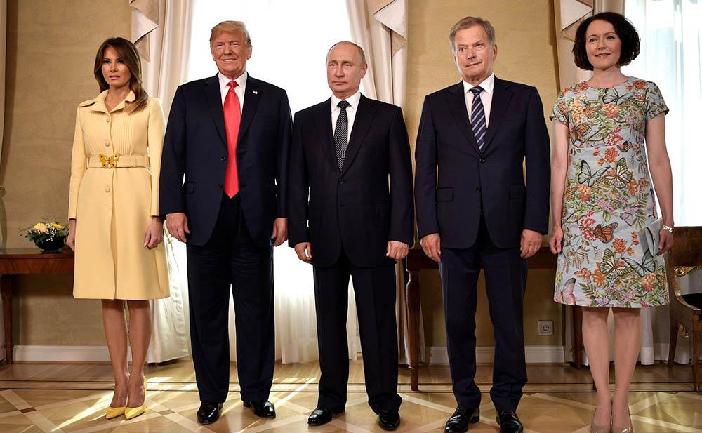 Мелания Трамп, Дональд Трамп, Владимир Путин, Саули Ниинистё, Йенни Элина Хаукио