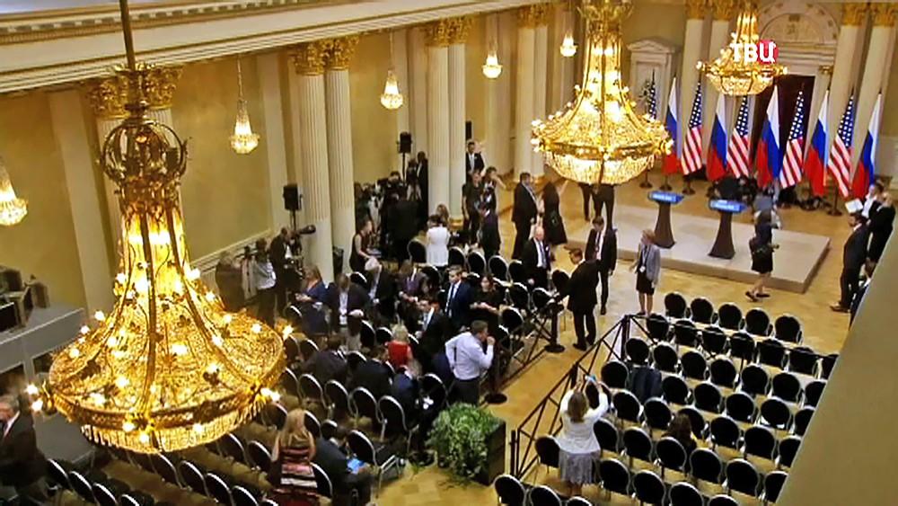Пресс-конференция Владимира Путина и Дональда Трампа