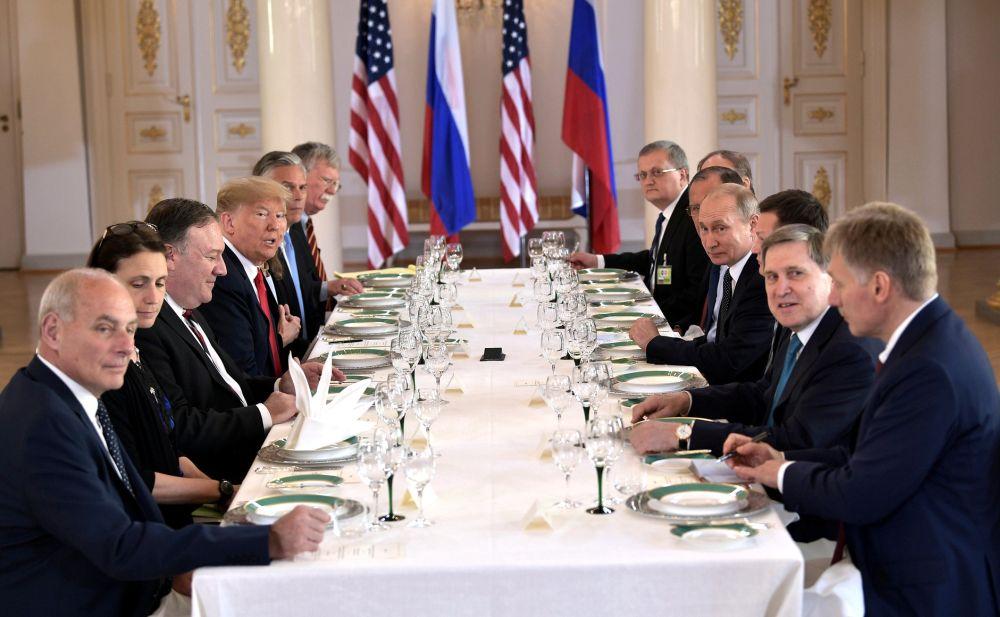 Расширенные переговоры Владимира Путина и Дональда Трампа