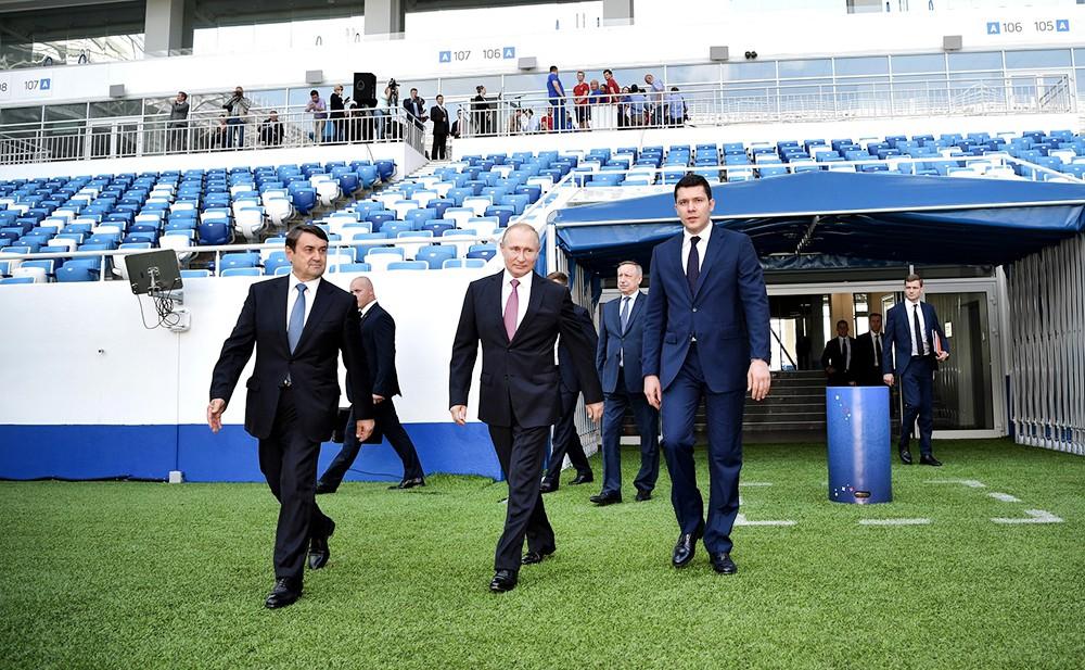 "Владимир Путин посетил стадиона ""Калининград"""