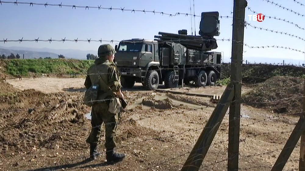 """Работа ПВО рядом с авиабазый """"Хмеймим"""" в Сирии"""