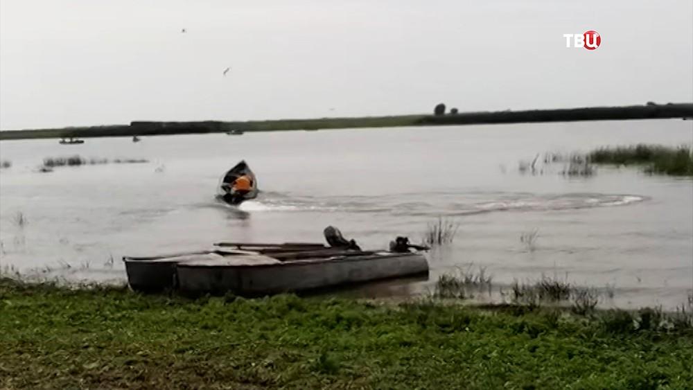 Поисковая операция на реке Бузан в Астраханской области