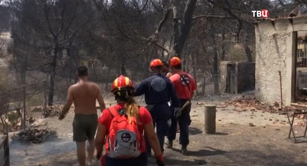Последствия пожара в Греции