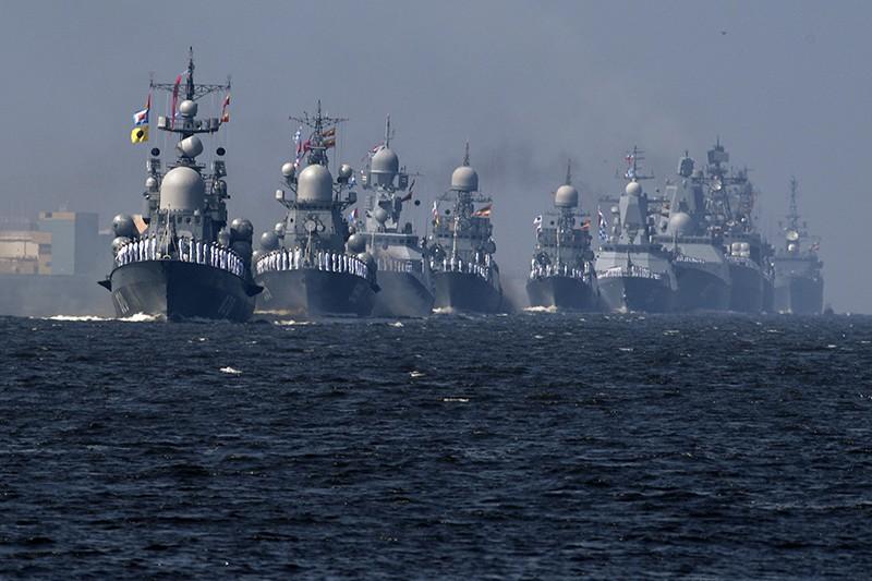Репетиция парада ВМФ России