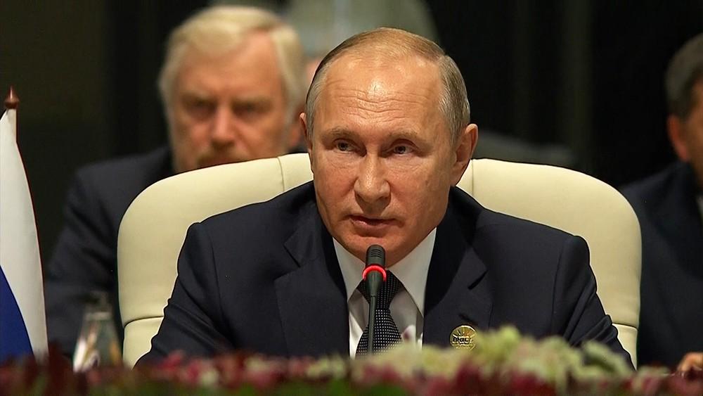 Президент России Владимир Путин на саммите БРИКС в ЮАР