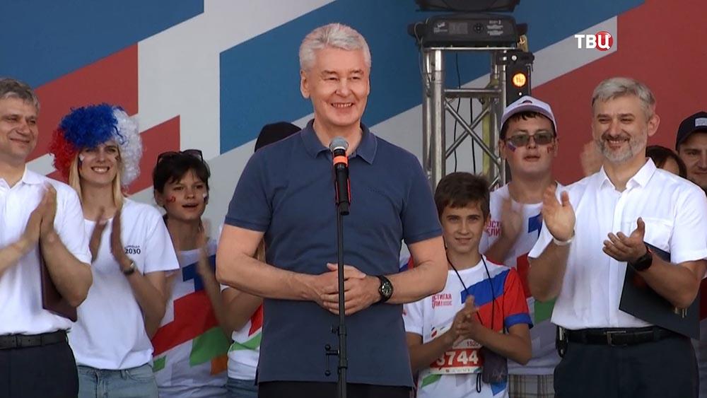 """Сергей Собянин посетил забег """"Достигая цели!"""""""