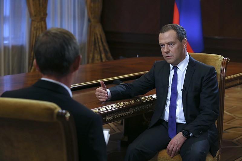 "Дмитрий Медведев во время интервью газете ""Коммерсантъ"""