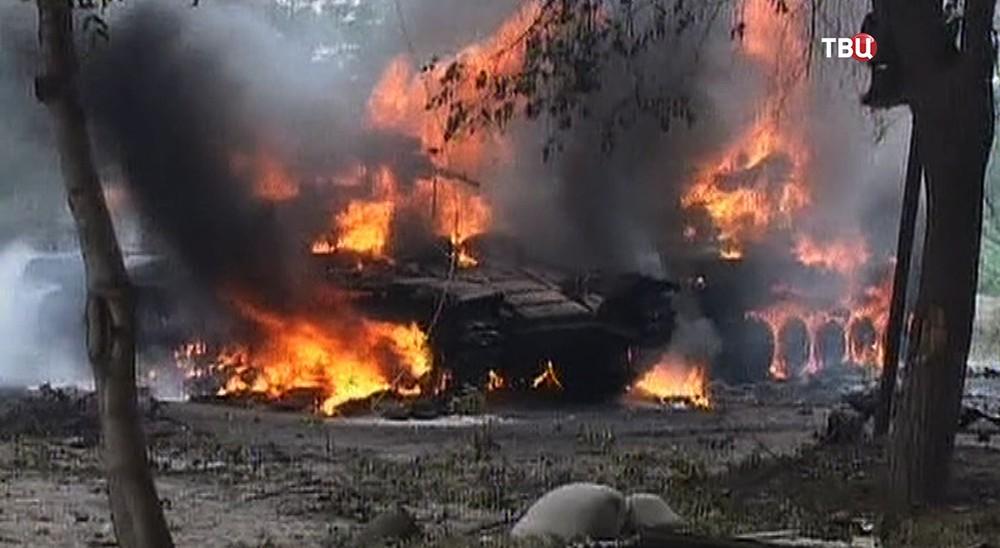 Место обстрела в Южной Осетии