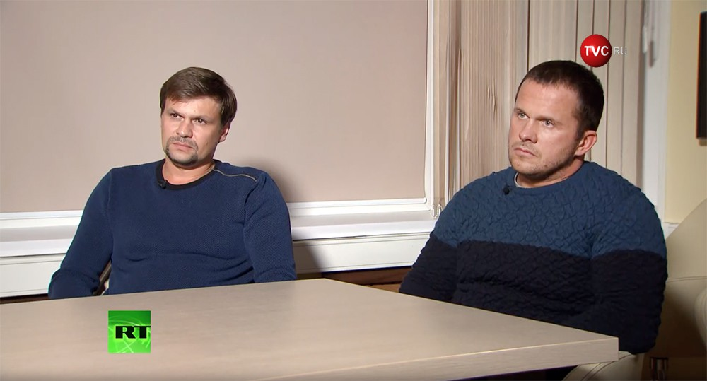 Александр Петров и Руслан Боширов, подозреваемые в покушении на Скрипалей
