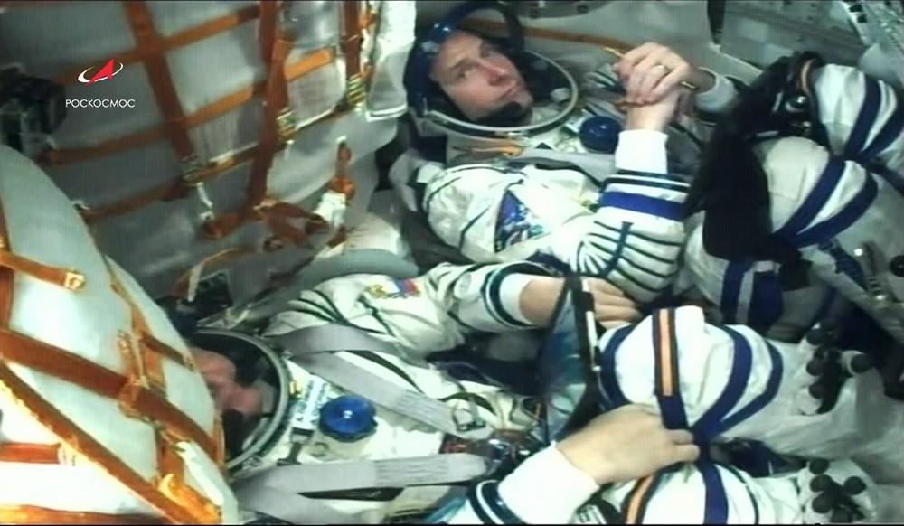 Космонавт Алексей Овчинин и астронавт Ник Хейг