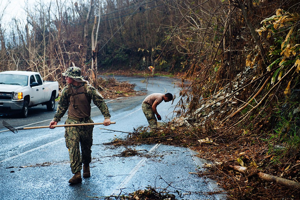 Последствия урагана в США