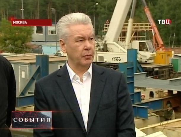 Сергей Собянин посещает строительство новых развязок на пересечении МКАД и Волгоградки