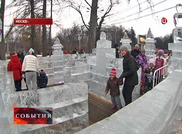 """Ледяной лабиринт в парке """"Сокольники"""""""
