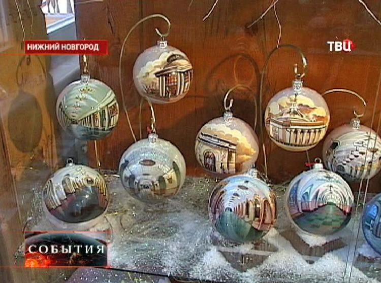 Экспонаты музея елочных игрушек в Нижнем Новгороде