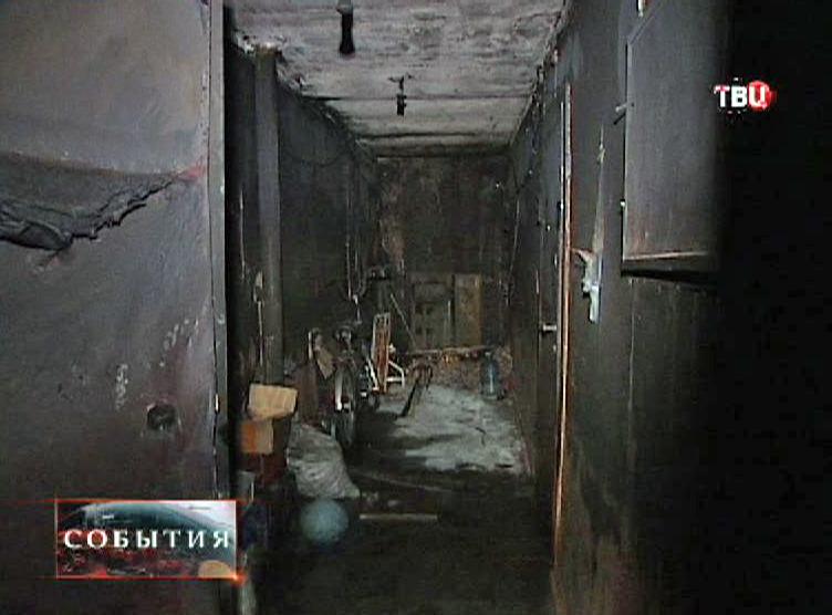 Сгоревший коридор жилого дома