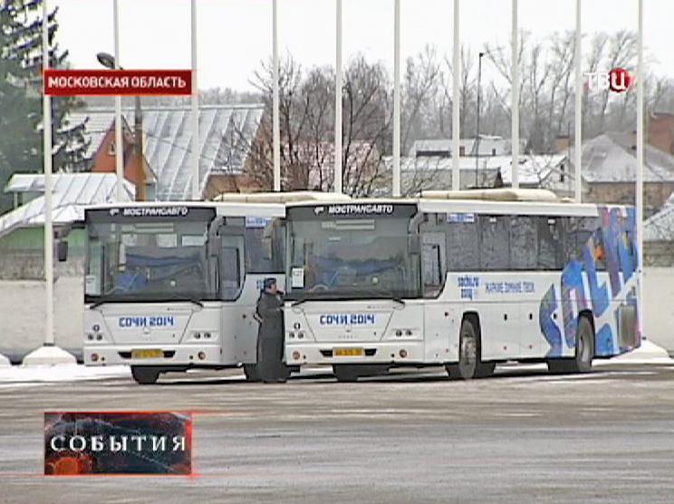 Автобусы для гостей Олимпийских игр