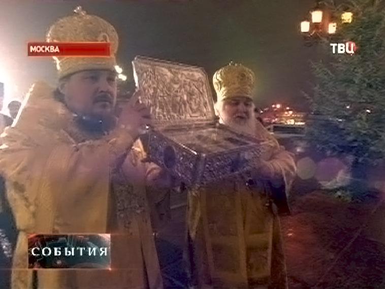 В Храм доставили христианскую святыню - Дары волхвов