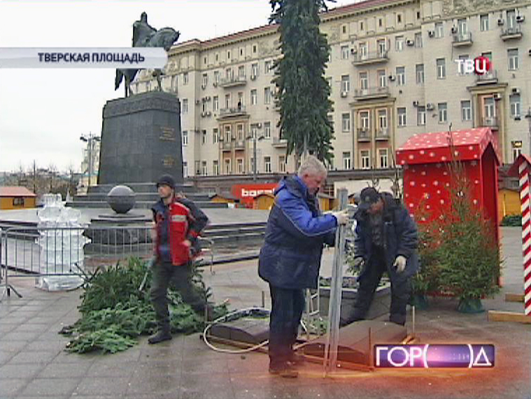 В Москве демонтируют рождественские ярмарки