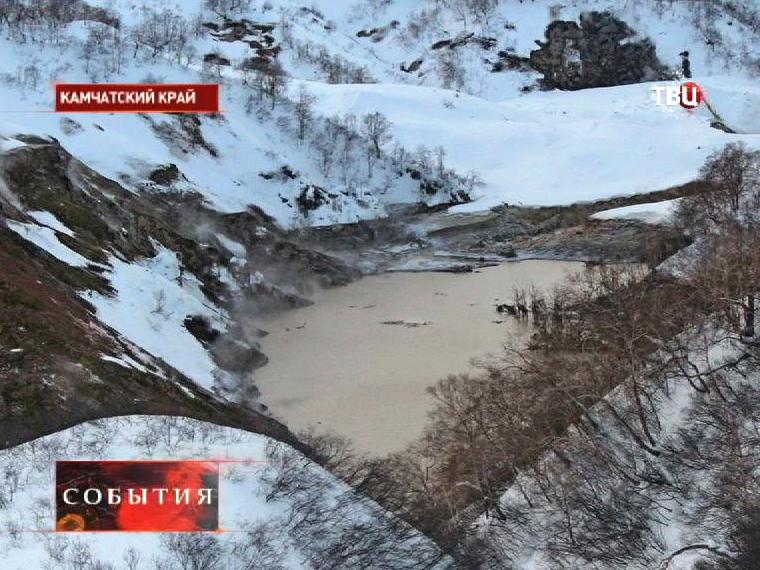 Селевой поток в Долине гейзеров в Камчатском крае
