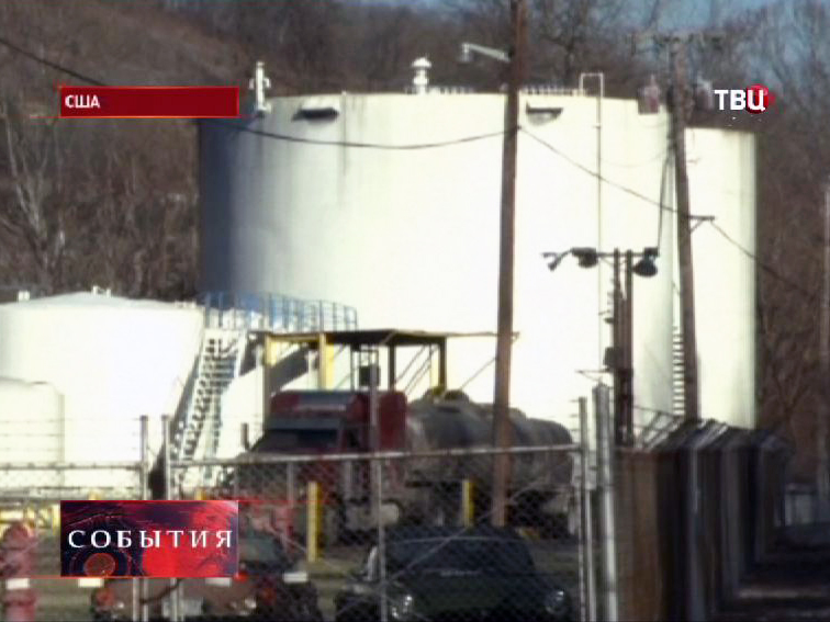 Химический завод США, где произошла утечка
