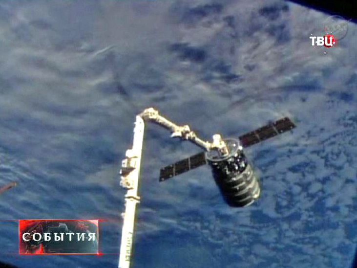 Стыковка МКС и космического грузовика Cygnus