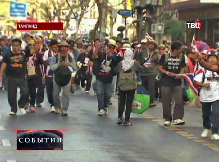 Антиправительственная акция в Таиланде