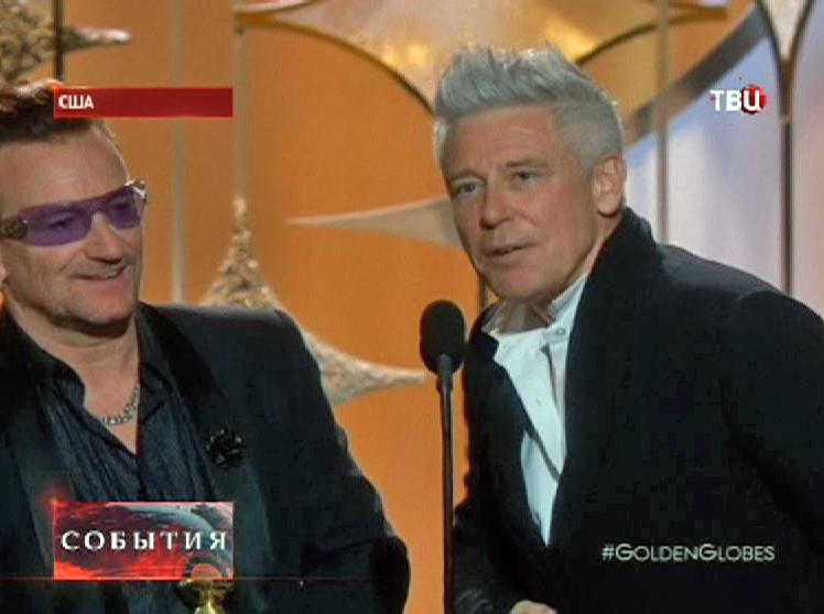 """Музыканты группы """"U2"""" на вручении премии """"Золотой Глобус"""""""