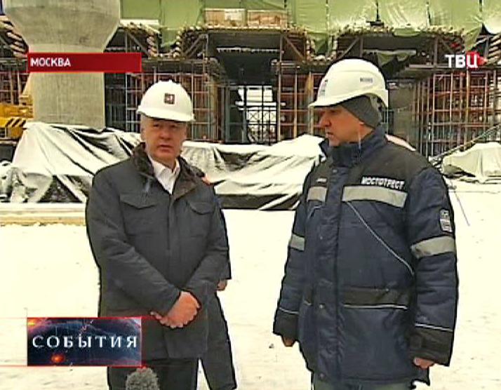 Сергей Собянин инспектирует строительство транспортной развязки