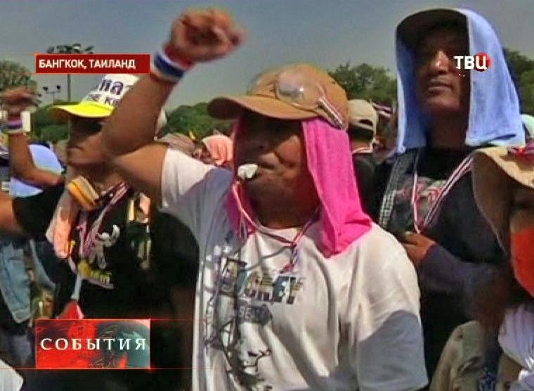 Протестующие в Таиланде