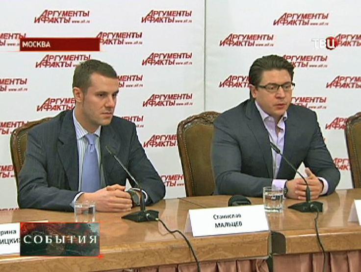 Руководители адвокатской группы Сергея Полонского - Александр Карабанов и Станислав Мальцев