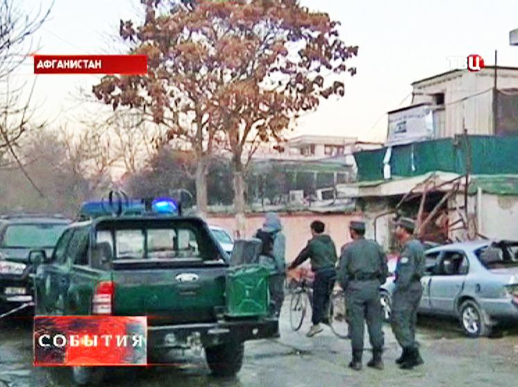 Место теракта в Кабуле